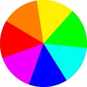 Батик, Сочетание цветов, цветовой круг.