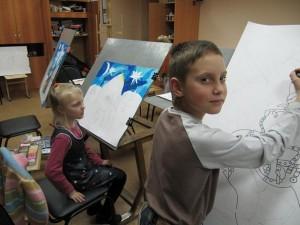 Батик,детское творчество,рисуют дети