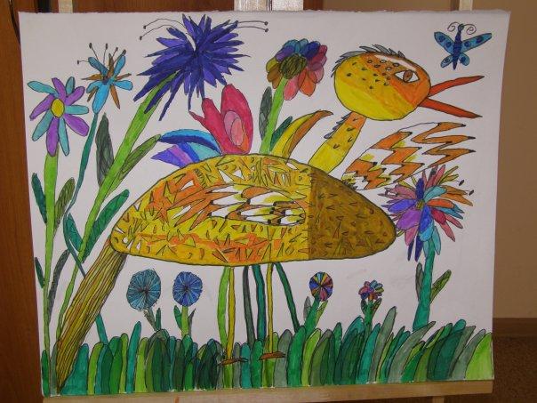 рисунки птиц для детей: