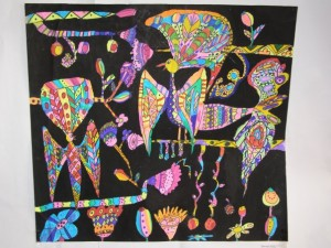 Рисунки птиц, рисуют дети, рисунки батик
