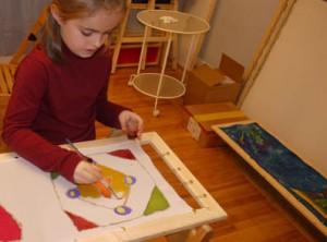 Детское творчество,рисуют дети, батик