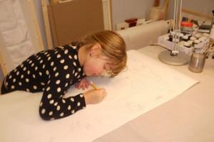 Рисуют дети,батик,детское творчество