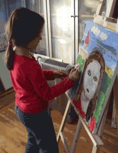 портрет изобразительное искусство детское творчество автопортрет рисуют дети уроки изобразительного искусства подарок для папы